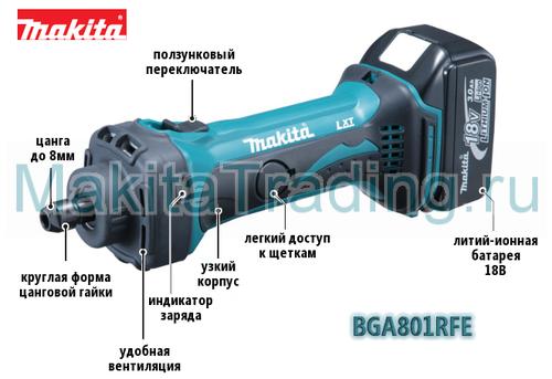 аккумуляторная шлифмашина makita bgd801 rfe