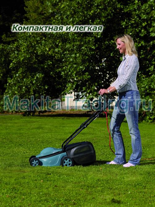 Электрическая газонокосилка makita elm 3300
