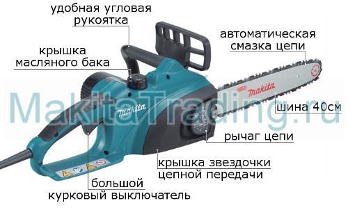 устройство электропилы uc 3520 A