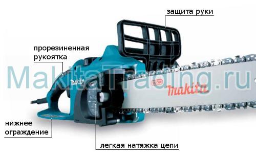 безопасность цепной пилы макита uc3520A