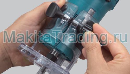 установка глубины фрезерования в триммере макита 3709