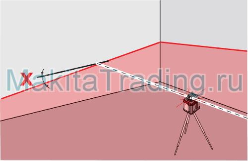 ручной режим лазерного уровня SKR200