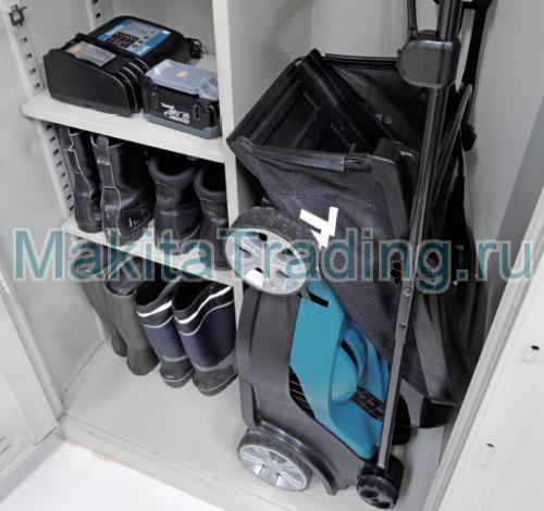 хранение газонокосилки makita blm430