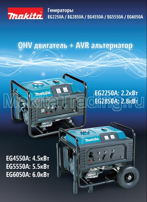 генераторы makita серии EG