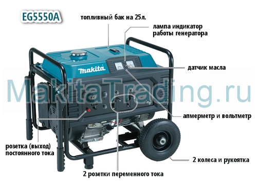 генератор makita eg5550A