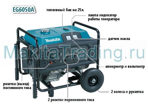 генератор makita eg6050A