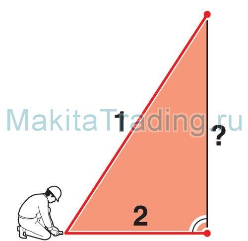 Измерение по закону Пифагора Макита ld080pi