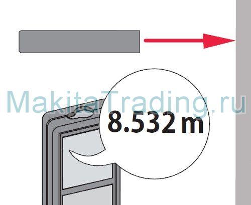 Измерение длины Макита ld080pi