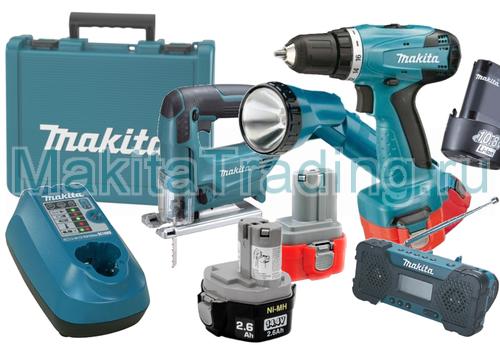 Комплектации аккумуляторных инструментов makita