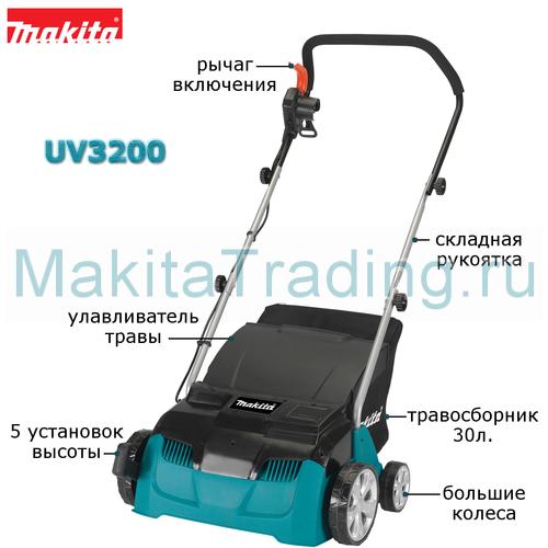устройство вертикутера макита uv3200